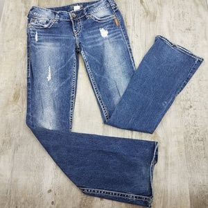 Silver Jeans Pioneer Distressed Stretch Jean
